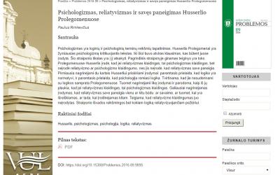 LFD geriausios 2016-ųjų metų jaunojo mokslininko publikacijos konkursą laimėjo Paulius Rimkevičius